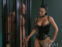 BDSM XXX Male muscular subs are teased by horny dominant Mistress