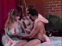 Busty girl gets banged in a threesome - Visual Images