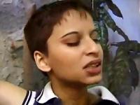 Short hair Indian girl fucks biology professor