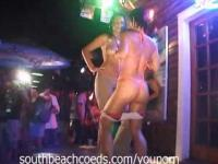 Crazy Girls Getting Naked at the Bar Part 2