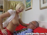 Blonde UK girl getting fucked by Jim Slip