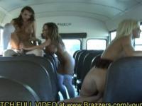 Jessica, Nika & Nikki - School Bus Fun