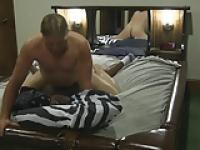 Black Girl & White Boy fucking on a waterbed 5 part 1