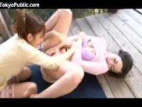 Two Japanese Women Make Love Outdoors