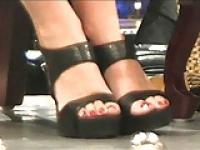 Sarah Palin feet, toes and footwear.
