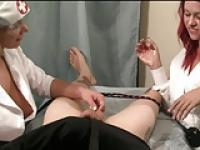 Nurse Handjob: Bound Down for a Handjob