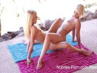 Naked yoga leads to lesbian lust