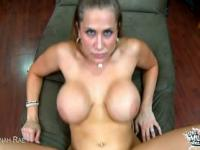HOT Blonde With Huge Tits Fucks In POV