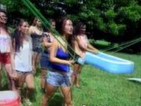 Naked College Girls Playing At Outdoor Hazing Party