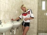Sexy German football player masturbate