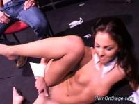 Scandal on stage stripper teasing this horny guy