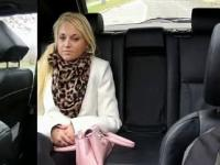 Naughty blonde gives handjob POV in faketaxi