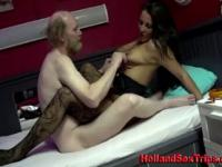 Hooker gets fucked by old guy