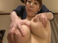 Busty asian Mio Sakuragi milking her breasts