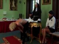 Femdom bitches whipping victim