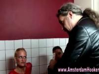 Real dutch prozzy sucking cock