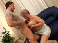 Fat BBW grannie is riding a dick