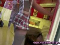 Dutch stockings hooker rides
