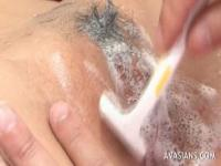 Asian Schoolgirl Gets Her Pussy Shaved By Two Guys