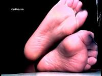 Sexy feet teases with sheer toes and wrinkled soles