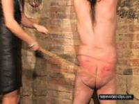 Caning a fat slave - 100 lashes