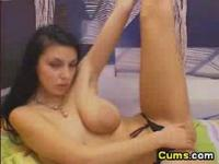 Cam; Busty hot russian fingering