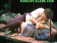Lea Michele from Glee topless in a play