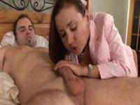 Busty Brunette Amateur MILF Very Hot Fucks Huge Cock