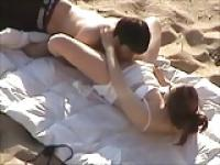 Couple Caught Fuck In The Beach