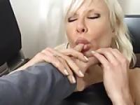 Submissive Melinda Loves Leather and Dildo's