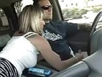 handjob in riding car
