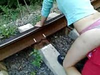 On the train tracks