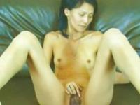 Skinny Asian MILF Rubbing Her Pussy
