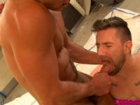 Muscled british doctor stud butt nailing pati
