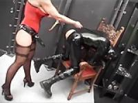 Sharon da Vale Mistress vs. Rubberslave(s) III Strapon