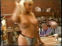 Karen White strips for old guys