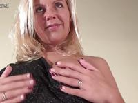 Blonde MILF loves to play alone