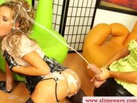 Strapon loving lesbos messy fun