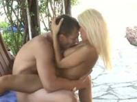 Gorgeous blonde fucked in the garden Candy Lee