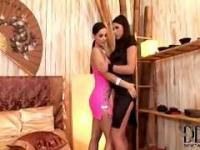 Eve Angel And Zafrira With A Double Dildo