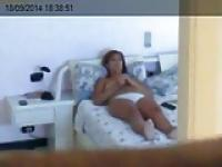 Laptop Cam - Topless in Bed