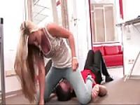 facesitting jeans punishment for the panty perv