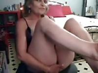 Hidden cam on the closet finally caught my mom masturbating