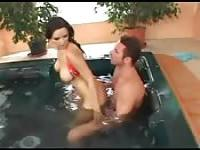 Partying with a whore in the jacuzzi