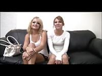 2 Pretty Teens casting with unknow man
