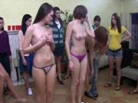 College Amateur Girls Getting Naked At A Hazing Party