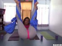 Crazy Flexible Girl with a Fat Ass