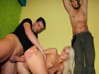 Make Him Cuckold -Cuckold revenge from sexy blonde