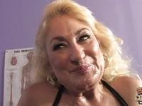 Granny Dana Hayes still hungry for black cock