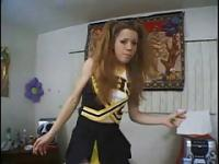 Nitwit Teen Cheerleader Summer Spreads For Him